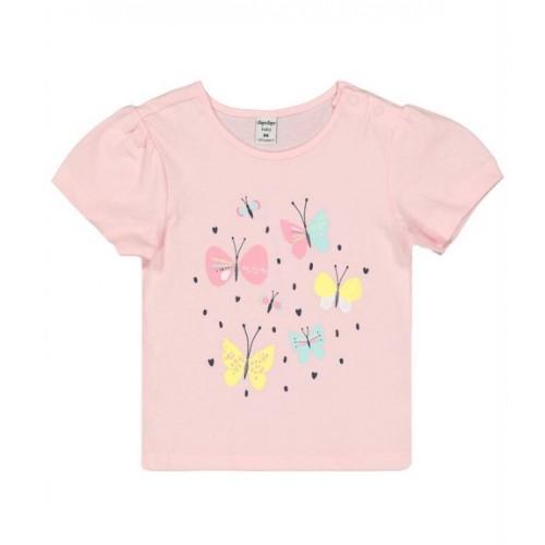 Tricou cu imprimeu fluturasi pentru fetite, 190520PV21RZ