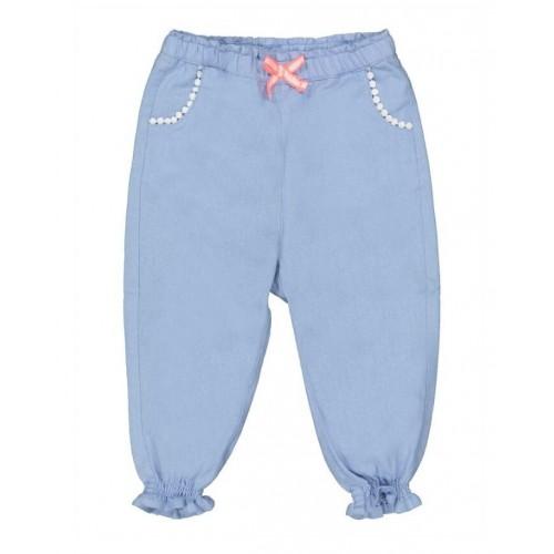 Pantaloni din bumbac pentru fetite, 250607PV21BL
