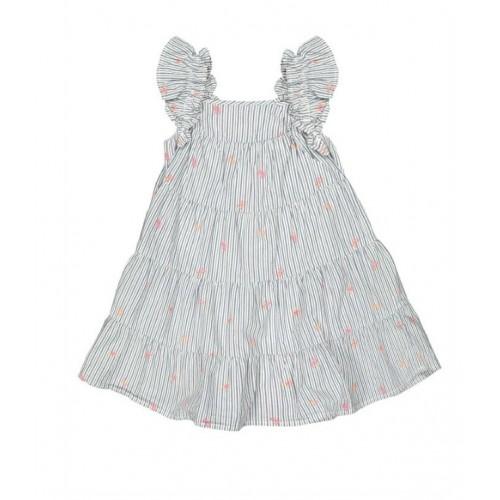 Rochie din bumbac cu imprimu floricele pentru fete, 250608PV21ABS