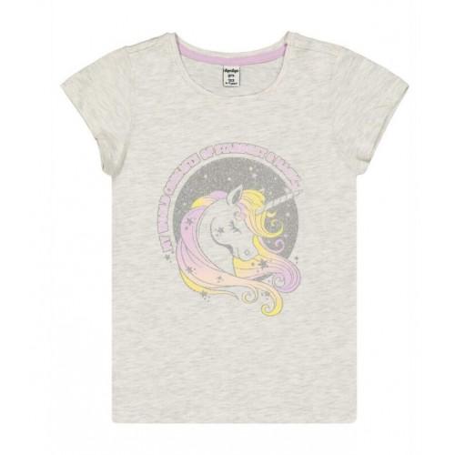 Tricou cu imprimeu unicorn pentru fetita, 250609PV21GR
