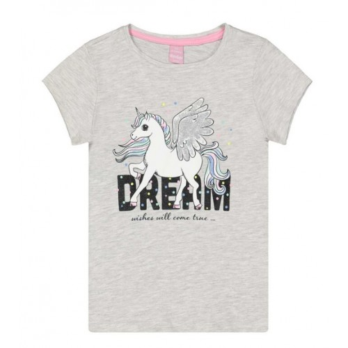 Tricou cu imprimeu pentru fetita, 290413PV21GR
