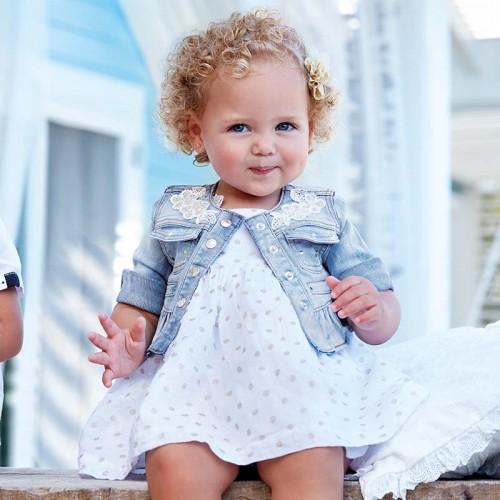 Geaca denim bebe fetita Mayoral 1416PV19BLE