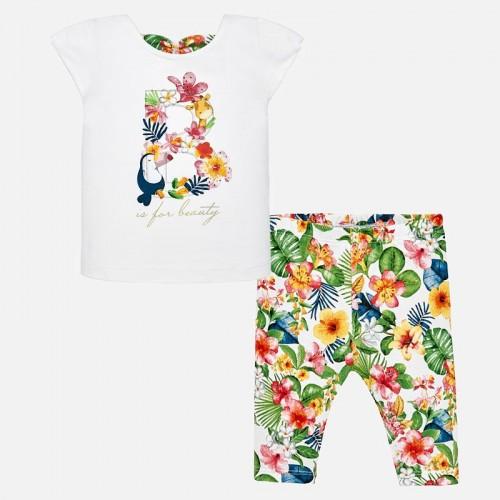 Set tricou si leggings tropical bebe fetita Mayoral 1748PV19GER