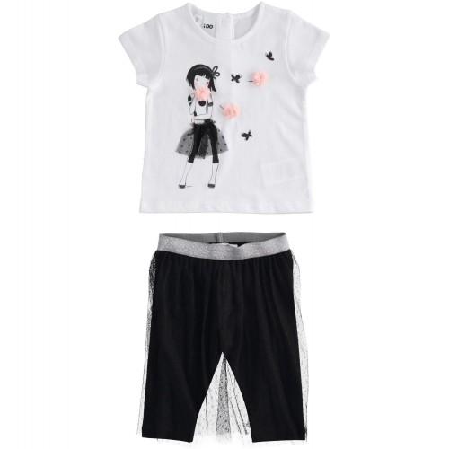 Compleu tricou si colant cu tull pentru fetita I Do, 2309PV21NE2