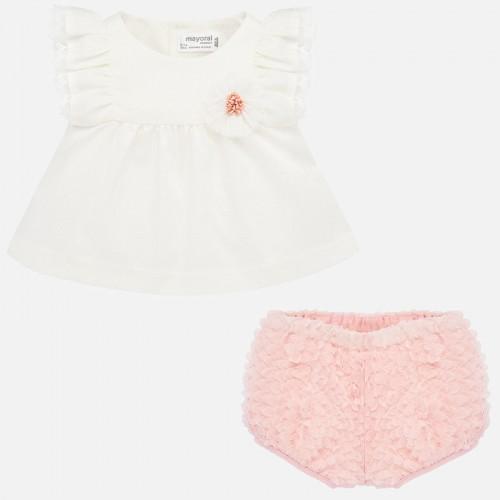 Set bluza tul si chilotei bebe fetita nou-nascuta, Mayoral, 1140PV20NCT